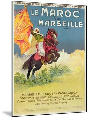 Morocco and Marseille Poster, 1913-Ernest Louis Lessieux-Mounted Giclee Print