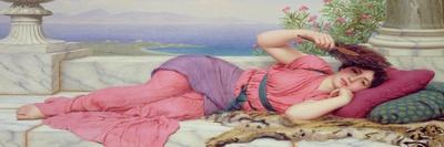 Noon Day Rest, 1910-John William Godward-Stretched Canvas Print