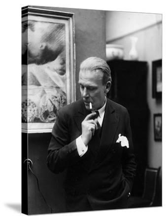 Portrait of German Writer Hanns Heinz Ewers-German photographer-Stretched Canvas Print