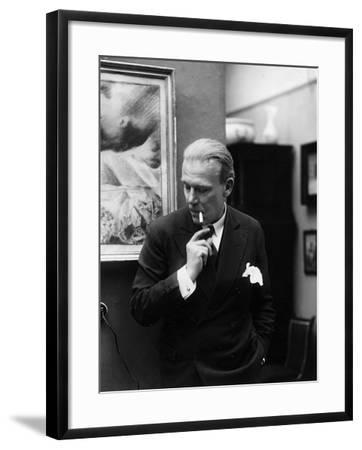Portrait of German Writer Hanns Heinz Ewers-German photographer-Framed Photographic Print