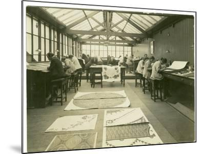 Section of the Designing Room, Carpet Trades, 1923-English Photographer-Mounted Photographic Print