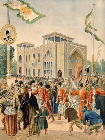 The Persian Pavilion at the Universal Exhibition of 1900, Paris, Illustration from 'Le Petit…-French School-Framed Giclee Print