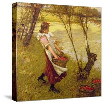 In the Orchard, Haylands, Graffham-Henry Herbert La Thangue-Stretched Canvas Print