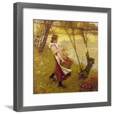 In the Orchard, Haylands, Graffham-Henry Herbert La Thangue-Framed Giclee Print