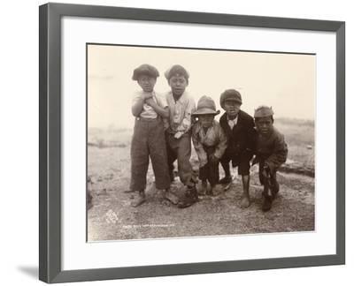 Maori Boys, Whakarewarewa, c.1910-Ralph Seldon-Framed Giclee Print