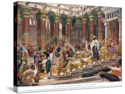 The Visit of the Queen of Sheba to King Solomon, Illustration from 'Hutchinson's History of the…-Edward John Poynter-Stretched Canvas Print