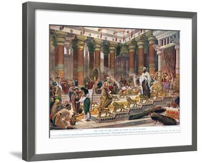 The Visit of the Queen of Sheba to King Solomon, Illustration from 'Hutchinson's History of the…-Edward John Poynter-Framed Giclee Print