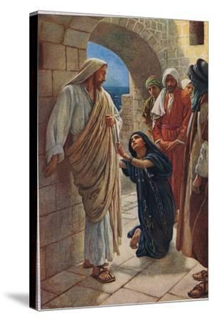 The Woman of Canaan, Illustration from 'Women of the Bible', Published by the Religious Tract…-Harold Copping-Stretched Canvas Print