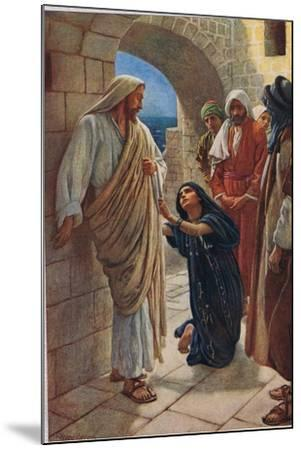 The Woman of Canaan, Illustration from 'Women of the Bible', Published by the Religious Tract…-Harold Copping-Mounted Giclee Print