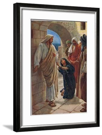 The Woman of Canaan, Illustration from 'Women of the Bible', Published by the Religious Tract…-Harold Copping-Framed Giclee Print