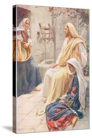 Martha and Mary, Illustration from 'Women of the Bible', Published by the R-Harold Copping-Stretched Canvas Print