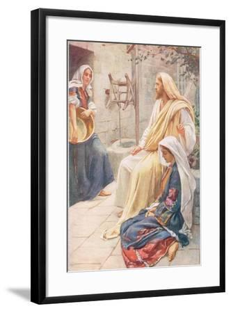 Martha and Mary, Illustration from 'Women of the Bible', Published by the R-Harold Copping-Framed Giclee Print