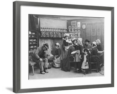 Interior of a Breton Pancake Restaurant, Finistere, c.1900-French Photographer-Framed Photographic Print