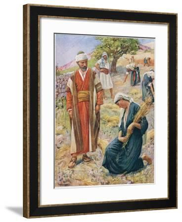 Ruth, Illustration from 'Women of the Bible', Published by the Religious Tract Society, 1927-Harold Copping-Framed Giclee Print
