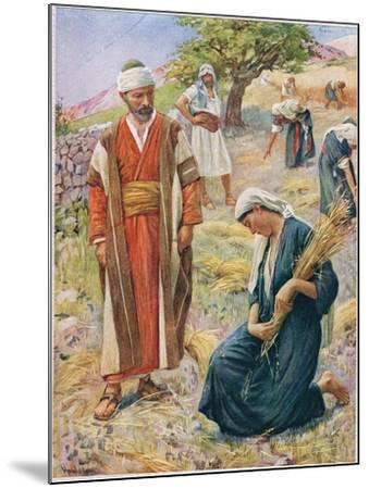 Ruth, Illustration from 'Women of the Bible', Published by the Religious Tract Society, 1927-Harold Copping-Mounted Giclee Print