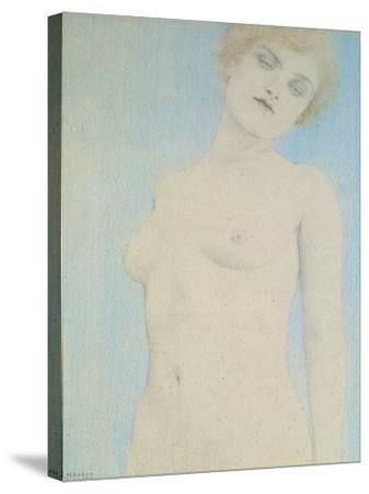 Female Nude-Fernand Khnopff-Stretched Canvas Print