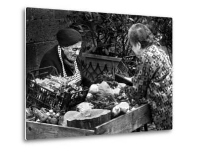 Italian Fruit Market, 2006--Metal Print
