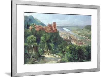 View of Heidelberg, c.1910-Fritz Genutat-Framed Giclee Print