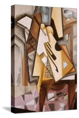 Guitar on a Chair-Juan Gris-Stretched Canvas Print