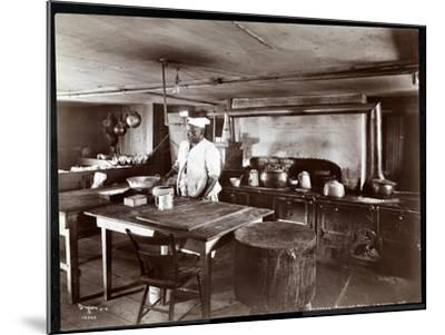 The Kitchen at Janer's Pavilion Hotel, Red Bank, New Jersey, 1903-Byron Company-Mounted Giclee Print