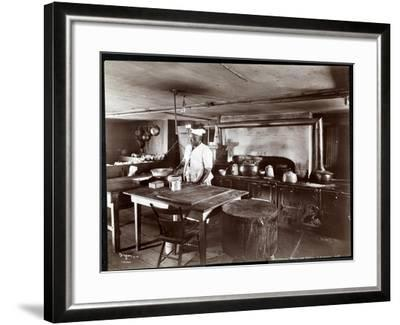 The Kitchen at Janer's Pavilion Hotel, Red Bank, New Jersey, 1903-Byron Company-Framed Giclee Print