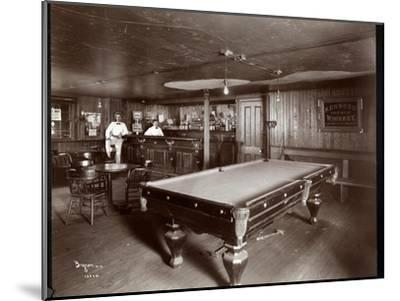 The Bar at Janer's Pavilion Hotel, Red Bank, New Jersey, 1903-Byron Company-Mounted Giclee Print