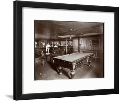The Bar at Janer's Pavilion Hotel, Red Bank, New Jersey, 1903-Byron Company-Framed Giclee Print