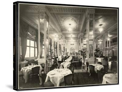 A Dining Room at the Robert Treat Hotel, Newark, New Jersey, 1916-Byron Company-Stretched Canvas Print