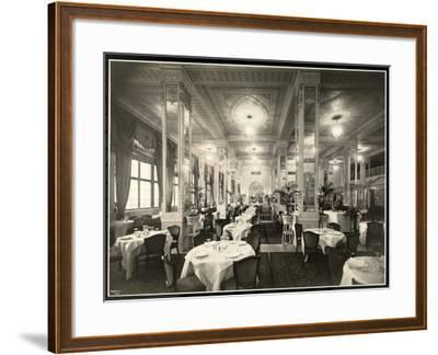 A Dining Room at the Robert Treat Hotel, Newark, New Jersey, 1916-Byron Company-Framed Giclee Print
