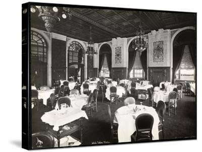 Dining Room at the Copley Plaza Hotel, Boston, 1912 or 1913-Byron Company-Stretched Canvas Print