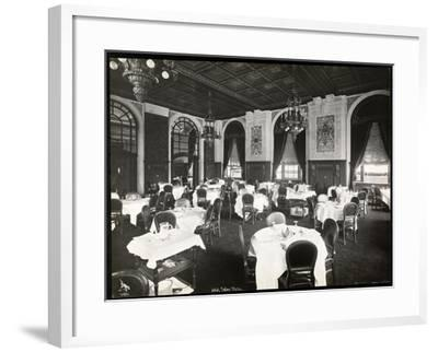 Dining Room at the Copley Plaza Hotel, Boston, 1912 or 1913-Byron Company-Framed Giclee Print