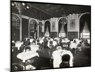 Dining Room at the Copley Plaza Hotel, Boston, 1912 or 1913-Byron Company-Mounted Giclee Print