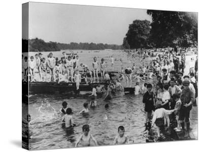 Serpentine Bathers, 1-6 pm-Thomas E. & Horace Grant-Stretched Canvas Print