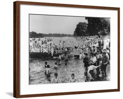 Serpentine Bathers, 1-6 pm-Thomas E. & Horace Grant-Framed Photographic Print