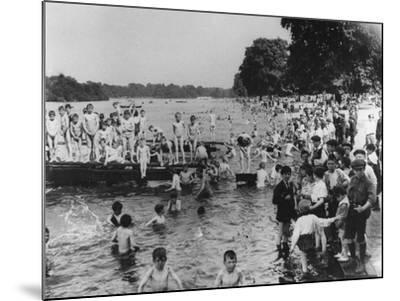 Serpentine Bathers, 1-6 pm-Thomas E. & Horace Grant-Mounted Photographic Print