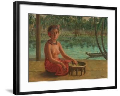 Making Kava, Samoa, 1901-Theodore Wores-Framed Giclee Print