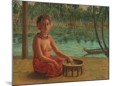 Making Kava, Samoa, 1901-Theodore Wores-Mounted Giclee Print
