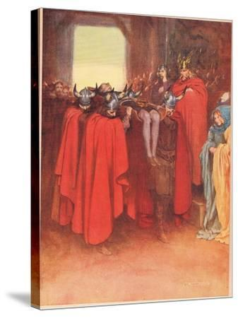 Horatio Tells His Men to 'Bear Hamlet Like a Soldier', from 'Hamlet' by William Shakespeare,…-W. G. Simmonds-Stretched Canvas Print