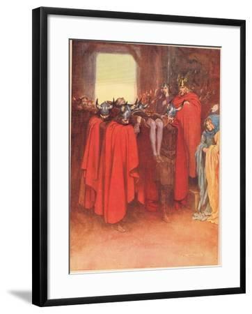 Horatio Tells His Men to 'Bear Hamlet Like a Soldier', from 'Hamlet' by William Shakespeare,…-W. G. Simmonds-Framed Giclee Print
