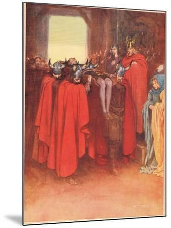 Horatio Tells His Men to 'Bear Hamlet Like a Soldier', from 'Hamlet' by William Shakespeare,…-W. G. Simmonds-Mounted Giclee Print