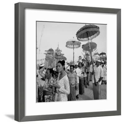 Temple Procession--Framed Photographic Print