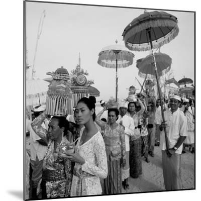 Temple Procession--Mounted Photographic Print