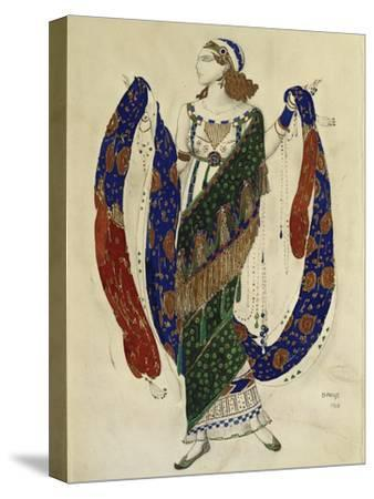 Costume Design for a Dancer from 'Cleopatra', 1910-Leon Bakst-Stretched Canvas Print