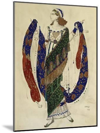 Costume Design for a Dancer from 'Cleopatra', 1910-Leon Bakst-Mounted Premium Giclee Print