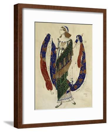Costume Design for a Dancer from 'Cleopatra', 1910-Leon Bakst-Framed Premium Giclee Print