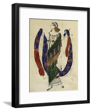 Costume Design for a Dancer from 'Cleopatra', 1910-Leon Bakst-Framed Giclee Print