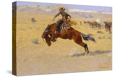 A Cold Morning on the Range, c.1904-Frederic Sackrider Remington-Stretched Canvas Print