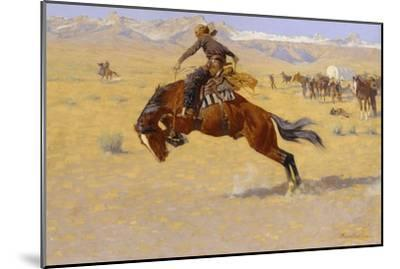 A Cold Morning on the Range, c.1904-Frederic Sackrider Remington-Mounted Giclee Print