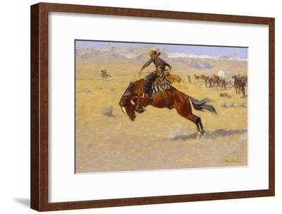 A Cold Morning on the Range, c.1904-Frederic Sackrider Remington-Framed Giclee Print