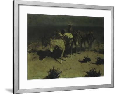 A Pack Train, 1909-Frederic Sackrider Remington-Framed Giclee Print